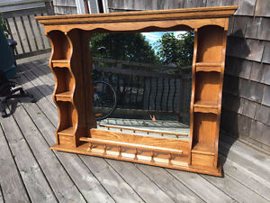 Large Vanity Mirror, Solid Oak from Bombay Company