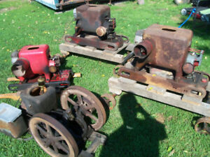 Antique hit@miss gas engines or trade