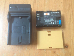 Camera battery lp-e6 and charger for canon