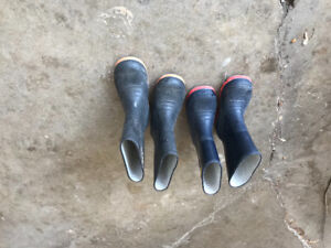 Boys rubber boots size 12 + 13