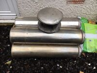 Twin Wall Flue Pipe and top hat