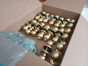 Assorted Used Polished Brass Door Knobs