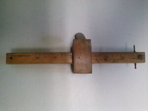 Carpenter's Scribe Mortise Marking & Measuring Tool, Antique