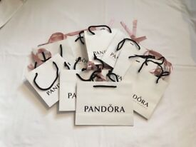Collection of pandora gift bags