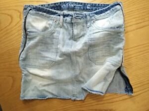 GUESS DENIM SKIRT WITH ZIP SIDES