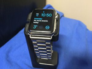 42MM STAINLESS STEEL >> APPLE WATCH <<  WITH 9 x BANDS
