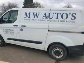 M W Auto's vehicle repairs MOT'S breakdown recovery