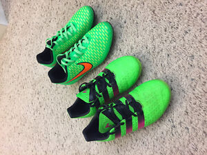Size 5 Green Addidas and Magista soccer cleats