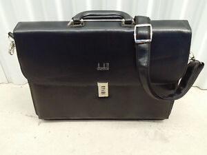 Leather Briefcase with Adjustable and Detachable Shoulder Strap