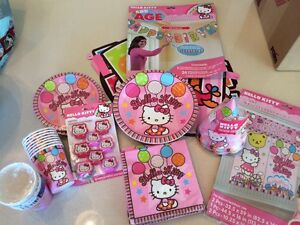 Hello Kitty full birthday party set new condition!