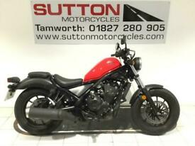 Honda CMX500 Rebel 69 plate only 275 miles + engine bars and gear indicator