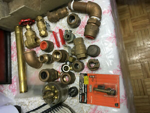 Assorted copper & brass pipe fittings some new