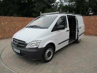 MERCEDES BENZ VITO 113 CDI LWB 136 BHP CRUISE CONTROL BLUETOOTH 3 SEATS