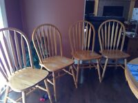 Kitchen dining chairs set of 4