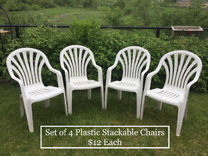 Plastic Patio Stackable Chairs