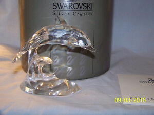 "SWAROVSKI CRYSTAL Figurine ""DOLPHIN"" (#7644) ~ As NEW IN BOX ~"