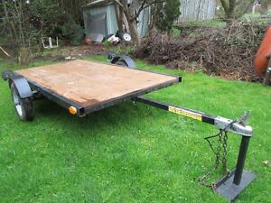 Tilting 4.5 feet by 8 feet Flat Utility Trailer For Sale