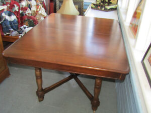 ANTIQUE WALNUT DINING TABLE
