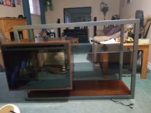 TV stand/ buffet with electric fireplace.