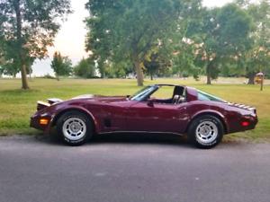 1980 Corvette Red