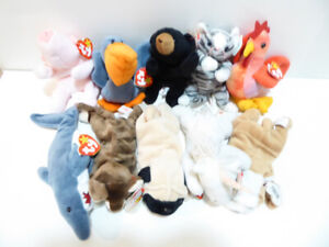 COLLECTION OF 58 RETIRED TY BEANIE BABIES WITH TAGS /MINT/UNUSED