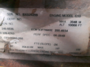 2005 cat c15 for parts or core
