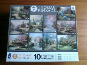 THOMAS KINKADE COLLECTOR'S JIGSAW --- 10 PUZZLES Brand New