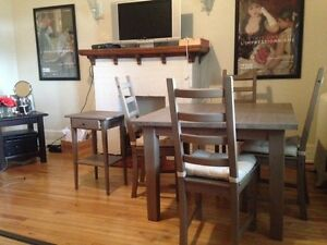 IKEA Solid wood dining table + 4 chairs negotiable