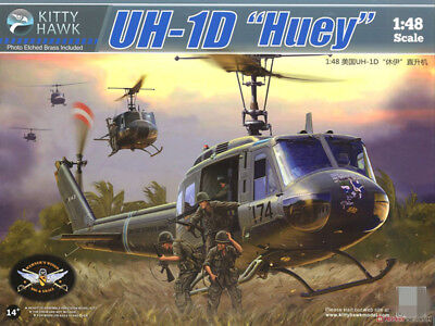 """Kitty Hawk KH80154 1/48 UH-1D """"Huey"""" for sale  Shipping to Canada"""