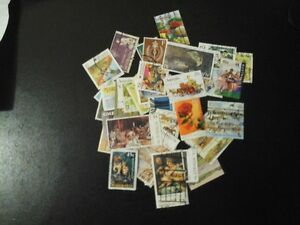 50 stamps timbres australiens