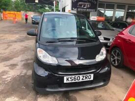 60 SMART FORTWO 1.0 MHD AUTO 71BHP PASSION ICE EDITION LEATHER SAT NAV PX SWAPS