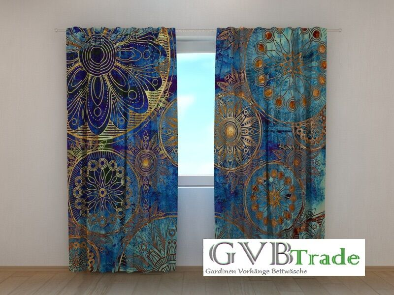 Fotogardinen Swans Fotovorhang Vorhang Gardinen Textil 3D Qualität Fotodruck