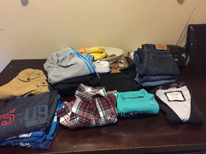 Variety of boys name brand clothes