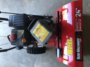 Almost new snow blower 24 inch