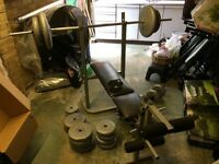 Weight bench press with over 80kg of weights York