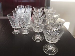 ANTIQUE Crystal Glasses (17 pieces) - (2) models - $ 20.00 total