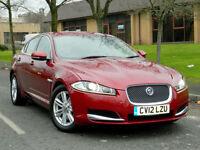 2012 12 Jaguar XF 2.2TD ( 190ps ) auto Luxury WITH LEATHER+SATNAV+PDC++