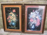TWO  ANTIQUE  PICTURE IN FRAMES