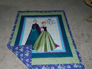 for a new Anna & Elsa quilt with 100% cotton Frozen backing
