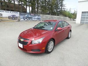 2012 Chevrolet Cruze Eco 4 DOOR SEDAN $109 B/W 72mths O.A.C.