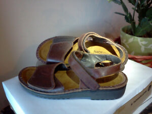 Very gently used Naot leather sandals