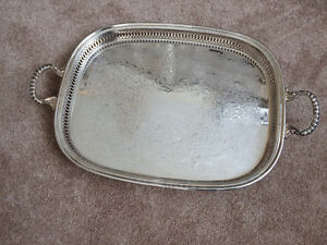 Large footed Silverplated Tray