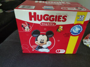 Huggies size 1 diapers. Never opened