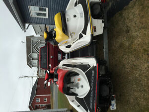 2 x Sea Doo's and Double Galvonized trailer