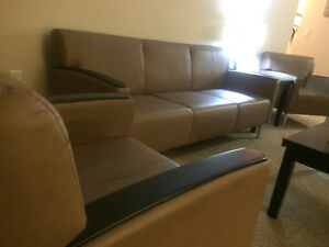 1 - 3 Seater office style couch with 2 matching chairs