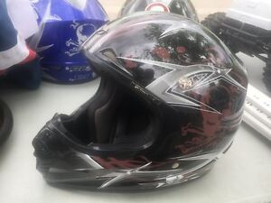 Dirt bike helmets 2 large and 1 medium GLX Brand DOT APPROVED