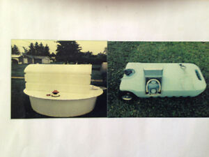 Septic tank, water tank and sewer tote