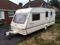 Bailey pageant champagne 4 berth with Isabella awning