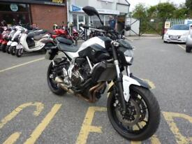 YAMAHA MT-07 NAKED MOTORCYCLE IN WHITE ONLY 2133 MILES ONE OWNER