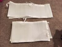 White Breathable Mesh Crib Bumpers
